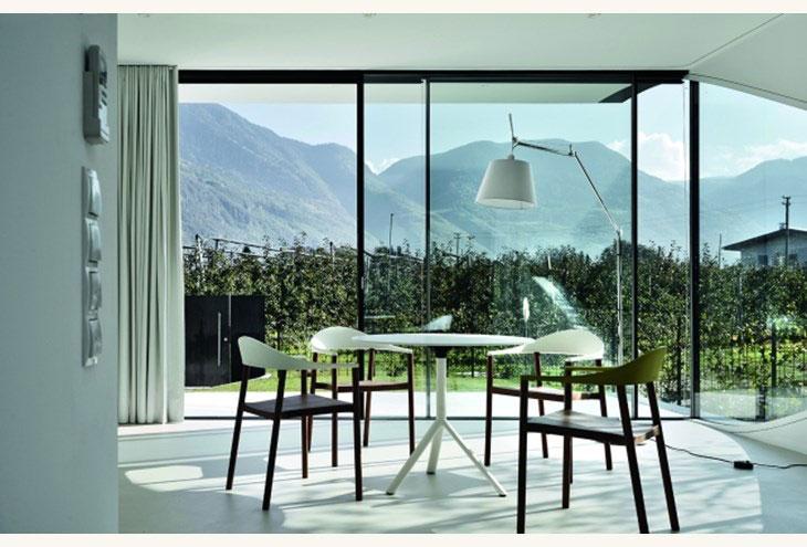 Αρχιτεκτονικές αντανακλάσεις mirror houses south living room 1